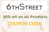 6th Street Code : Upto 60% + Extra 10% OFF for all users