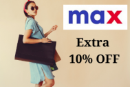 Max Fashion Promo Code 70% + Extra 10% off on all products